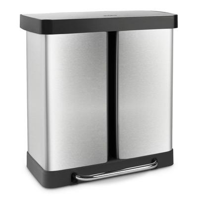 Trennsystem-Mülleimer   2 x 30 L   Schwarz & Silber