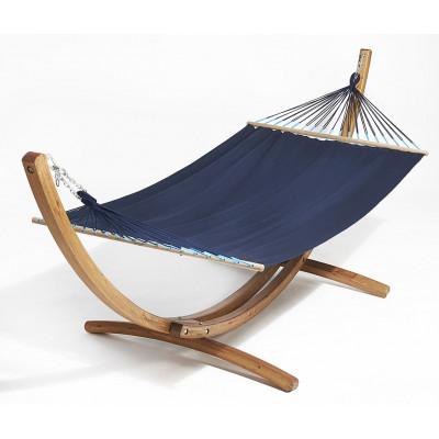 Holz-Hängemattenset Buzios   Marineblau