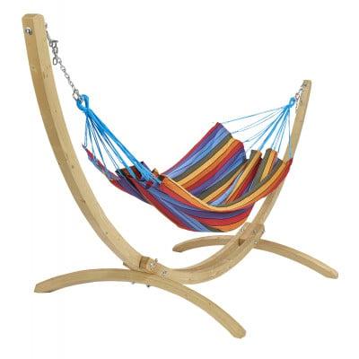 Hängemattenset aus Holz Copacabana   Mehrfarbig