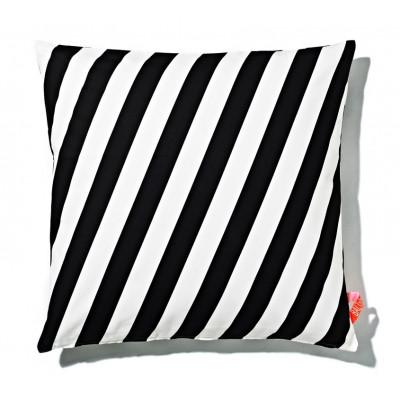 Kissen 60x60cm Schwarz-Weiß - gestreift
