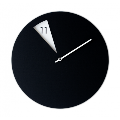 Freakish Clock Black White