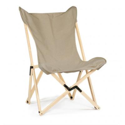 Tripolina Lounge Chair   Ecru