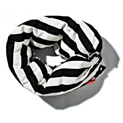 Kettenkissen schwarz-weiß - gestreift