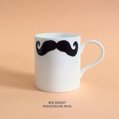 Becher Big Daddy Moustache Mug | Inspector Poirot & Maurice