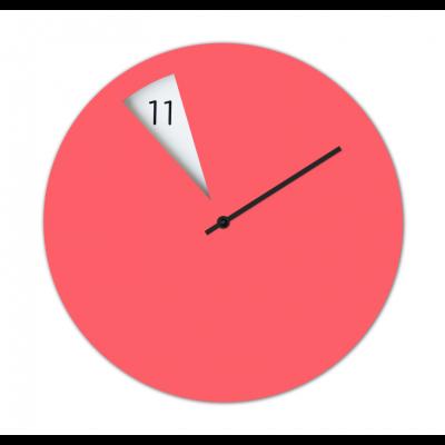 Freakish Clock Pink