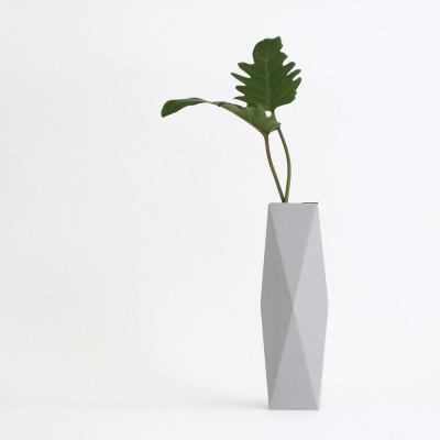 Gemütlich. Papier Vase Abdeckung Hoch | Grau
