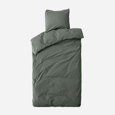 Einzelner Bettbezug mit Kopfkissenbezug 50 x 70 Erika   Waldgrün & Schnee