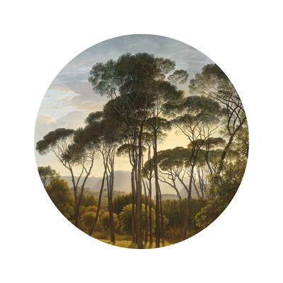 Wallpaper Circle Small Golden Age Landscape
