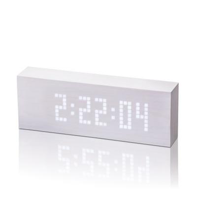 Nachrichten-Klick-Uhr | Weiß