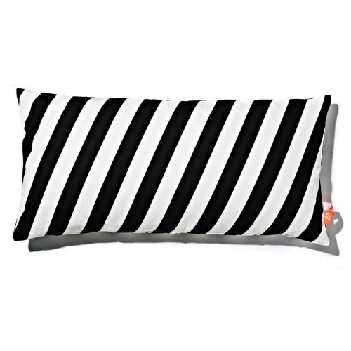 Kissen 40x80cm Schwarz-Weiß - gestreift