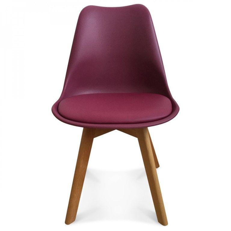 Scandi Chair | Burgundy