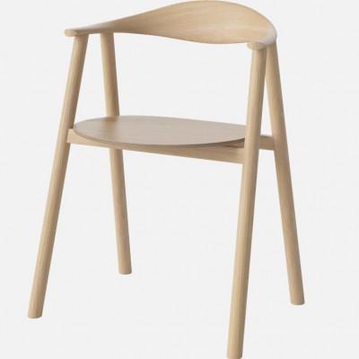 Swing Dining Chair | Eiche weiß lackiert