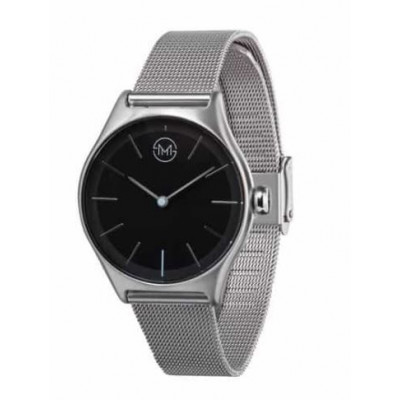 Slim Made Two 02   All Silver Mesh Black Dial