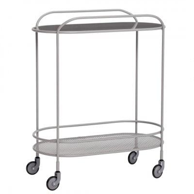 Trolley Spiegel Metall | Grau