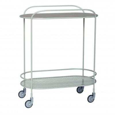 Trolley Glas Metall | Grau