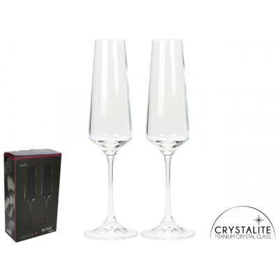 2er-Set Champagner-Gläser Crystalite