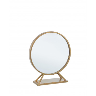 Spiegel mit Ständer Klein Marilyn | Gold