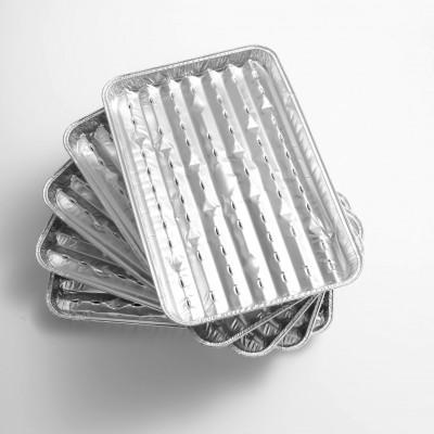Barbecue Tray   Set of 5   Aluminium