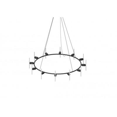Kronleuchter Circular B mit Smile-03 LED-Glühbirnen | Schwarz