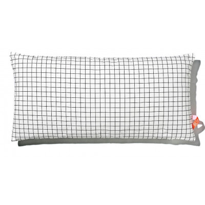 Kissen 40x80cm Schwarz-Weiß - Quadratisch