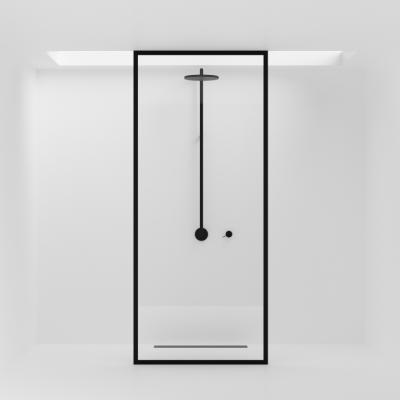 Duschwand | Schwarz