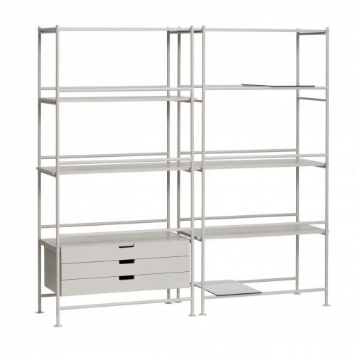 Shelf Unit with Shelves Metal Ash | Grey