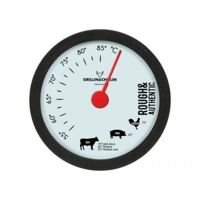 Grillthermometer 9 x H13cm | Schwarz