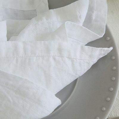 Leinenserviette | Optisches Weiß