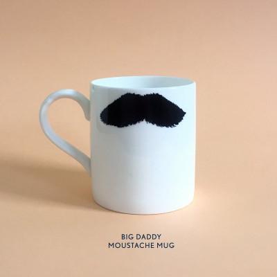 Becher Big Daddy Moustache Mug | Charlie Chaplin & Mustafa