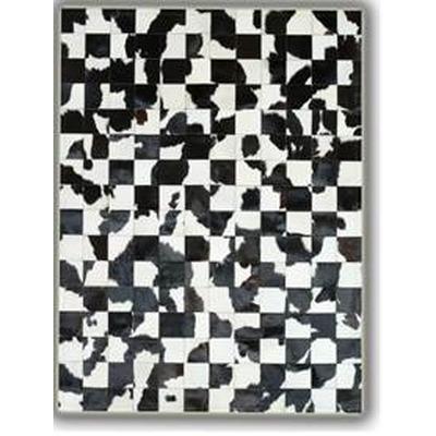 Lederteppich   Schwarz-Weiß Bw1