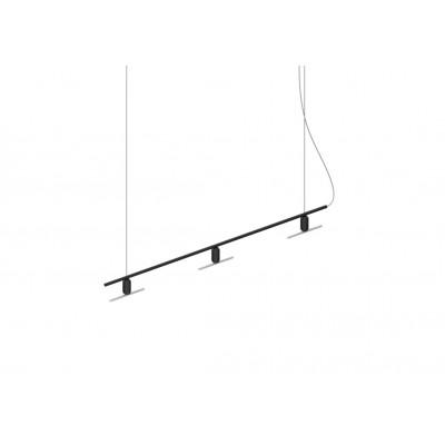 Kronleuchter Linear B mit Smile-03 LED-Glühbirnen | Schwarz