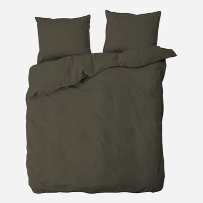 Doppelter Bettbezug mit 2 Kissenbezügen Ingrid   Braun