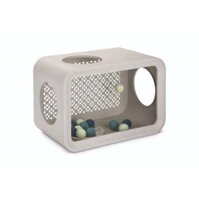 Katzenwürfelspiel mit Bällen   Grau