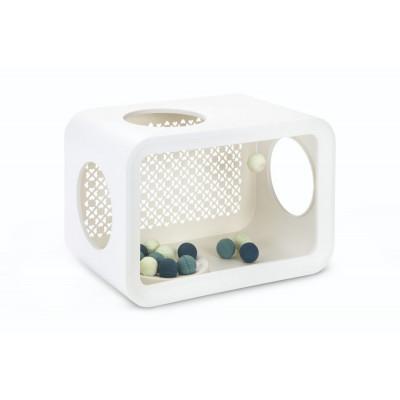 Katzenwürfelspiel mit Bällen   Weiß