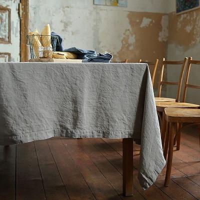Steingewaschene Tischdecke | Taupe