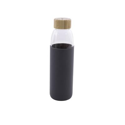 Glasflasche mit Silikonhülle 58 cl l Dunkelgrau