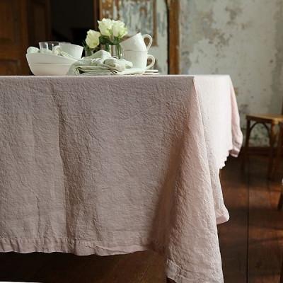 Mit Stein gewaschene Tischdecke | Rosa