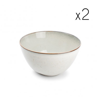 2er-Set Schüssel  Freckles 21xH12cm | Grün