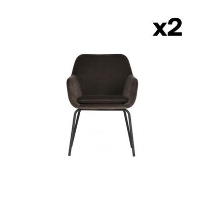 2-er Set Esszimmerstühle Mood | Anthrazit