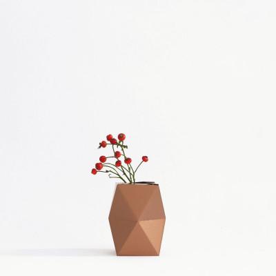 Gemütlich. Papiervase Abdeckung Niedrig | Kupfer