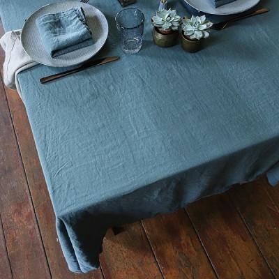 Steingewaschene Tischdecke | Balsamgrün