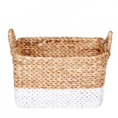 Water Hyacinth Basket | White