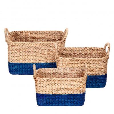 Water Hyacinth Basket | Blue