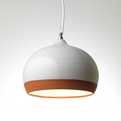 Medium Pendant white /  Terracotta