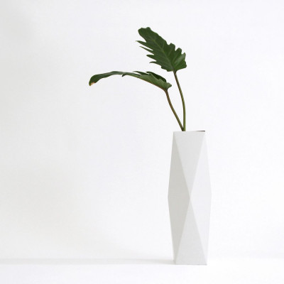 Gemütlich. Papier Vase Abdeckung Hoch | Weiß
