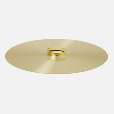 Drop Hat Lampshade | Brass