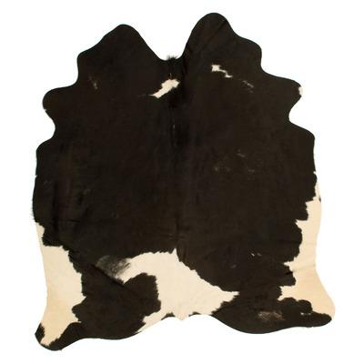 Einzigartige Kuhhaut   Schwarz, Beige, Weiß & Grau
