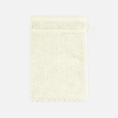 Waschhandschuh mit Perlenstruktur 6-teiliges Set | Elfenbein