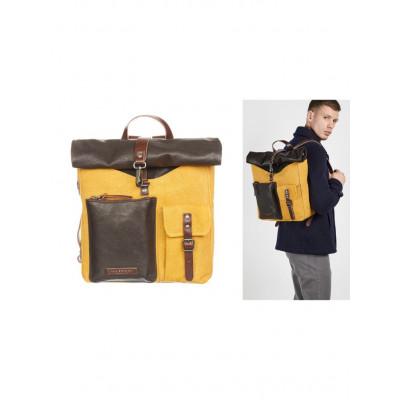 Rucksack Männer | Braun Gelb