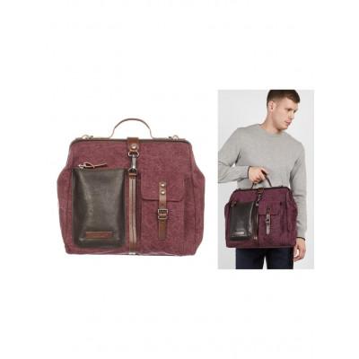 Messenger-Bag Männer | Braun Gelb